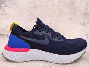 Nike Epic React Flyknit Womens Running Shoes AQ0070-400 Size 6 Navy Blue