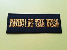 POP, ROCK, PUNK, METAL MUSIC SEW ON & IRON ON PATCH:- PANIC! AT THE DISCO