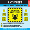 'Security Protected' Anti-Theft / Thieves Shop Stickers Sticky Swing Tag Labels