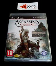 ASSASSIN'S CREED III 3 Sony Playstation 3 PS3 Play Station 3 PAL-España Nuevo