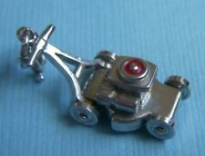 Vintage movable enamel lawn mower sterling charm