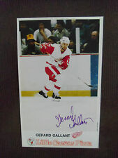 1985-DETROIT RED WINGS-Little Caesars' Pizza-#17-Gerard Gallant-AUTOGRAPHED.