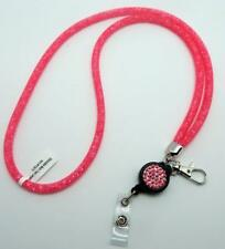 Stardust Crystal & Mesh Extendable Lanyards 6 Different Colors