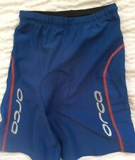 Womens Orca Padded Cycling Shorts Blue Small Size 2