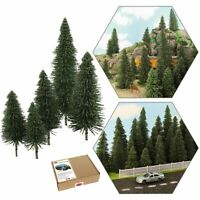 40pcs Model Pine Trees Deep Green Pines For HO O N Z Scale Model Railroad Layout