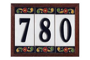 15cm x 7.5cm Spanish Pepper Design Ceramic Address House Number Tiles & Frames