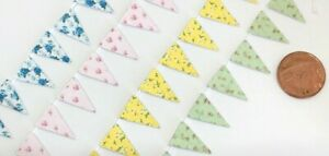Dolls House Miniature Shabby Chic Bunting, 4 Colours, Additional Items P&P FREE