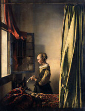 Girl Reading a Letter by an Open Window Jan Vermeer Brief Fenster B A3 02471