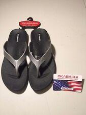 Okabashi Women's Ergonomic Massaging Sandals Flip Flops Size 5-6 Waterproof