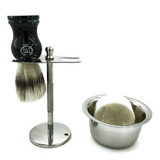 Shaving Stand for Safety Razor and Shaving Brush with Mug for Cream Stainless