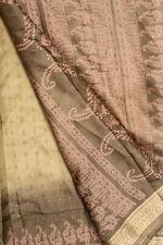 Vintage Indian Pure Silk Saree Handloom Textile Embroidered Sari Ethnic Drape