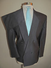 MENS RAFFINATI GRAY WOOL BLEND 4 BUTTON DOUBLE BREASTED 2 PIECE SUIT 47S