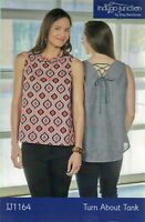 NEW UNCUT TURN ABOUT TANK WOMEN'S SEWING PATTERN IJ1164 INDYGO JUNCTION XS-3X
