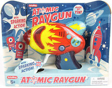 ATOMIC Raygun Sparking Friction Tin Litho Metal Blaster Laser Ray gun Space Toy
