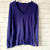 EAST Wool Cashmere Jumper Size 12 Blue    Smart Casual Warm