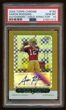 PSA 10 AARON RODGERS 2005 TOPPS CHROME RC AUTO GOLD XFRACTOR /399 AUTOGRAPH  HOT