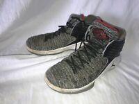 Boys Nike Air Jordan XXXII AA1254-002 Grey White Black Size 7US 6UK