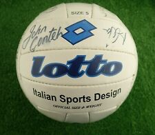More details for lotto size 5 signed autographed football (john conteh autograph + others)