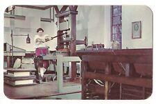 THE PRINTING OFFICE PRESS Shop 18th C Methods Williamsburg Virginia Postcard VA