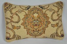 Pillow made w Ralph Lauren Northern Cape Rug Floral Tapestry Fabric 16 x 11 cord