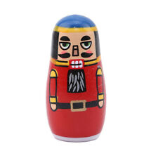 5 Layers Matryoshka Russian Doll Soldier Figurine Painting Wooden Toys Gift KS
