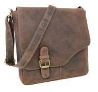 Leder Umhängetasche Schultertasche Freizeittasche Arbeitstasche Vintage braun