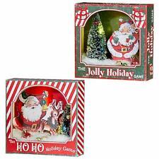 Set/2 RAZ Imports Lighted Christmas Retro Vntg Style Santa Decor Shadowbox Gifts