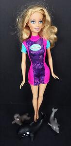 SeaWorld Trainer Barbie Retired Mattel Whale Seal Dolphin Vtg'99 Shamu