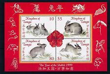 [26933] Tonga 1999 Animals Chinese New Year Rabbit MNH Sheet