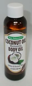 SPA NATURALS COCONUT OIL Moisturizing Body Oil Soften & Restore Skin 4.5oz
