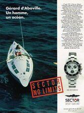 Publicité advertising 1992 La Montre Sector Sport Watches SGE 500 Chrono