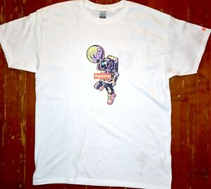 NEW white Supreme t shirt with astronaut SIZES SM,M,L,XL