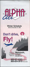 Alpha Air system timetable 11/18/89 [8051] Buy 2 Get 1 Free