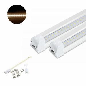 2x LED Tube 120cm 18W T8 Röhre Lichtleiste mit Fassung Leuchtstoffröhre Warmweiß