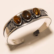 New Cuff Bangel Silver Plated Tiger Eye Gemstone Handmade Best Price jewelry