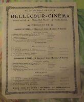 Affiche Publicitaire Propagande Pont-de-Veyle  Bellecour - Cinéma Toto