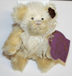 Annette Funicello Collectible Jointed Mohair Cream Soda Sling Teddy Bear Retired