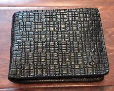 Nixon C2628 000 Arc Bi Fold Black Leather RFID Protection Wallet NIB