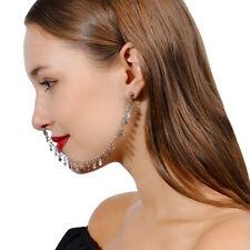 Nose to Ear Tassel Chain Link Nose Clip Ring Pierced Earring Ear Stud Jewelry