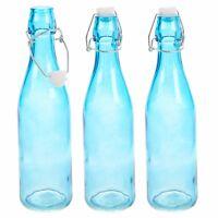 3 6 x 500ml / 1L Glass Swing Flip Top Lid Bottles Brew Beer Cider Reusable Home