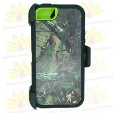 For Apple iPhone 5/5s Camo Defender Case Cover w/Screen&(Clip fits Otterbox)
