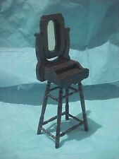 Concord ( #5299) dark wood doll house Dressing or Mirror Stand,swivel mirror NOS
