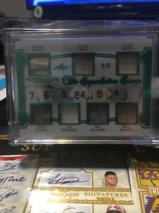 🔥2020 Leaf Superlative 7X Jersey Bat Card 3/5 Mantle Mays Williams DiMaggio HOF