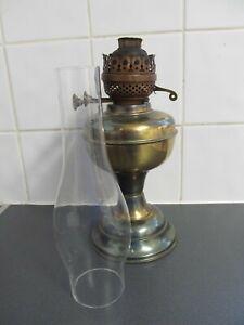 VINTAGE DUPLEX? OIL LAMP  Made In England LOFT FIND 50cms