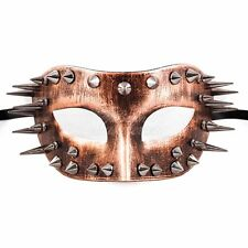 Steampunk Costume Theater Masquerade Mask with Spike for Men - Metallic Copper
