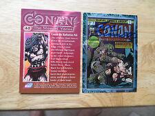 1996 CONAN THE MARVEL YEARS CHROMIUM COVER CARD SIGNED JOE SINNOTT, WITH POA
