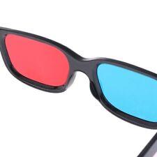 Black Frame Red Blue 3D Glasses For Dimensional Anaglyph DVD Game Movie J5O6