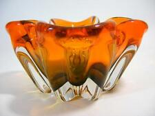 VINTAGE ITALIAN MURANO ART GLASS BOWL ORANGE