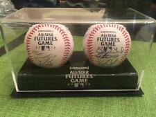 2012 Futures Game Signed Team Ball Set with Display George Brett Manny Machado