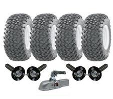 Double Essieu Atv Remorque Kit Quad - Roues + Moyeu & Porte Attelage 1800kgs